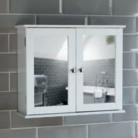 Bath Vida Priano Double Door Mirrored Bathroom Cabinet Storage Cupboard Wall