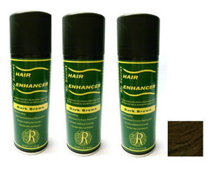 My Secret Hair Enhancer DARK BROWN for thinning hair 5 oz - THREE PACK VALUE