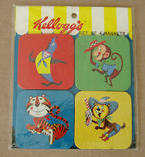 Vintage Kelloggs Cereal Set of 4 MAGNETS Mascots Tony Pete Seal Monkey NEW