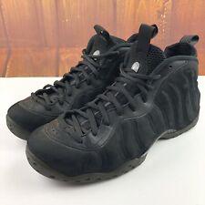 Nike Air Foamposite One PRM EXT Triple Black Suede Sz.13 575420-006 Jordan XII X