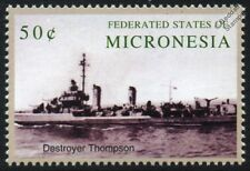 USS Thompson (DD-627) Gleaves class destroyer WWII US Navy navire de guerre navire cachet