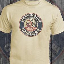 Washington Gasoline Americana Car Motorcyles Retro Natural T-Shirt Ideal Gift
