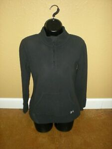 Under Armour Semi-Fitted Long Sleeve Zip Neck Micro Fleece Sweatshirt Black XS