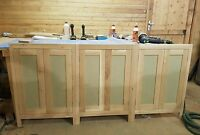 Solid Oak Handmade kitchen cabinets  Doors In-frame