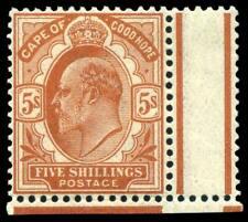 Cape of Good Hope 1902 KEVII 5s brown-orange MNH. SG 78. Sc 71.