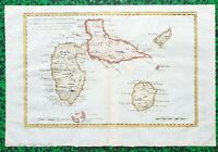 XVIII ème - Guadeloupe Marie Galante Saintes Belle Carte par Bonne 37x25 de 1770