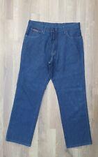 WRANGLER jeans W36 Navy Blue cotton denim mens zip fly straight leg
