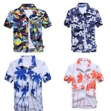 Men's Hawaiian Shirt Summer Floral Printed Beach Short Sleeve Top Blouse NEW