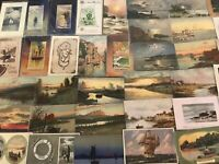 Lot of 45 ~WATER SCENES~LANDSCAPES~SHIPS~Vintage 1900's Postcards-a166