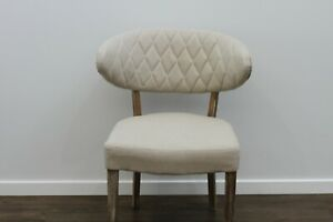 New Imogen Designer Dining / Occasional Chair Fabric Solid Oak legs