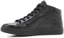 PRADA Calf Leather High-Top Sneaker 10 Prada; 11 US; 44 EU Soft Supple Nero