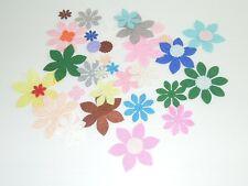 wool blend Felt Flower pattern DIY Shape Felt ~ 50pcs