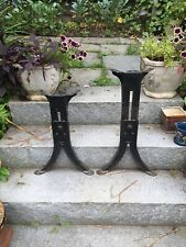 Antique Adjustable Metal Table Legs Adjustable 17 to 26 inches high