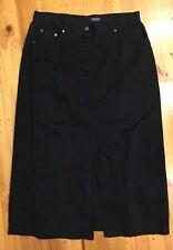 Yarra Trail Long Navy Skirt No Size Label Approx Waist Size 94cm