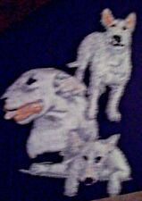 White Bull Terrier Dog Breed Embroidered Dog Animal Iron On Patch