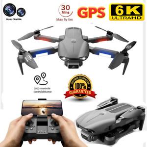 Quad Air Drone F9 GPS 6K HD Dual Camera 5G WIFI FPV Foldable RC Quadcopter +2B
