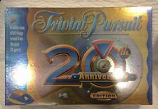 Trivial Pursuit 20th Anniversary Edition Family Board Game New Factory Sealed!