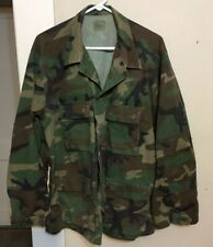 Army Camo Hunting Field Jacket Coat Woodland Large