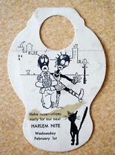 RARE Vintage Black Americana Harlem Nite Bottle Hang Tag