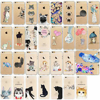 Thin Funda Carcasa TPU  Pattern  Protector Case Cover iPhone 5 5s SE 6 6s 7 Plus