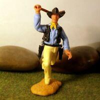 Timpo Toys Made in GT.Britain Steckfigur beweglich Cowboy zu Fuß
