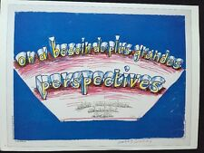 "David Hockney XV1 RIP Arles 1985, mini poster pop art auth. Repro. 14x10"" R127"