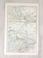 1898 Antik Map Of Kanada Western Kanadische Provinz Ontario Quebec 19th Century