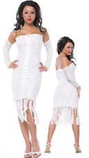 Womens Mummy Ghost Costume Sexy Adult Egyptian Halloween Party Size S/M