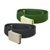 Army Canvas Combat Belt 40mm Military Cotton Webbing Adjustable Metal Buckle