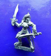 Bruja Elfo Oscuro Guerrero Hembra Metal Elfos ciudadela desconocido Maker Doble Espadas # A