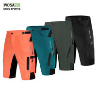 Mens Baggy Cycling Shorts Casual Bicycle MTB Bike Pants Loose Adjustable Waist