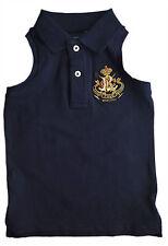 RALPH LAUREN Girl NAVY BLUE Crest POLO Shirt Tank Top 2y 3y £37