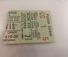 Elvis Concert Ticket Stub 1974 Rare Floor Chair