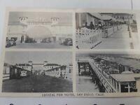 Crystal Pier Motel, San Diego, California Vintage Postcard