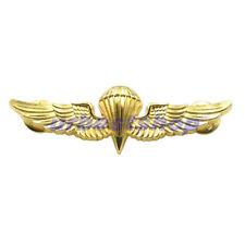 US Navy Marine Corps Paratrooper Jump Wings Pin Badge Parachute Parachutist Gold