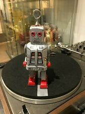 Schylling Collector Series - Space Robot Key Wound Motor - MS 403 - Silver
