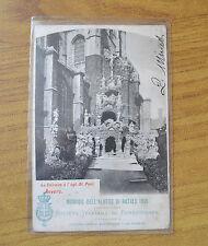 CARTOLINA RICORDO ALBERO DI NATALE 1901 SOC ITAL BENEFICENZA VIAGGIATA 1902 KK