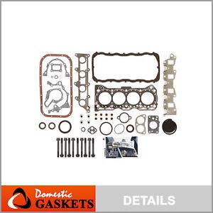 Fits 89-95 Suzuki Sidekick Geo Tracker 1.6L SOHC Full Gasket Set Bolts G16KC