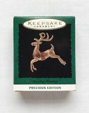 1994 Dazzling Reindeer ~ Precious Edition Hallmark Miniature Ornament