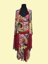 ISABEL de PEDRO Multi Color Set (Sleeveless Blouse, Long Skirt, Scarf)