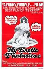 My Erotic Fantasies 1976 PostEr 01 A3 Box Canvas Print