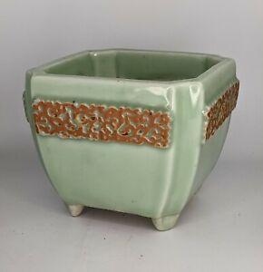 Japanese Antique Celadon Seto Porcelain Jardinière Planter - Meiji Period FINE