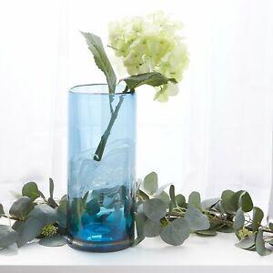 "OCEAN WATERS GLASS VASE - 12 1/2"" HIGH - GLASS - BLUE"