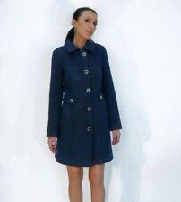 Cappotti e giacche da donna blu lunghezza al ginocchio con bottone ... 843c42a3b49