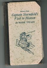 Extract from Captain Stormfield's Visit to Heaven Mark Twain 1909 HC Book