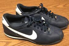 Nike 316418 402 Men's Retro Cortez Blue White Leather Athletic Run Shoes  Sz 11