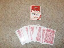 Tahoe Red Poker 84 vintage both sides backs Playing card Deck