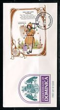 DOMINICA 1997 MARY MARY QUITE CONTRARY  SOUVENIR  SHEET FIRST DAY COVER
