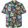 500-1229 Christmas Holiday Gingerbread Snowman Santa Gifts Hawaiian Aloha Shirt