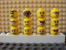 Lego Minifig Mixed Lot Of 12 Minifigure Heads/Faces People Part Classic Yellow E